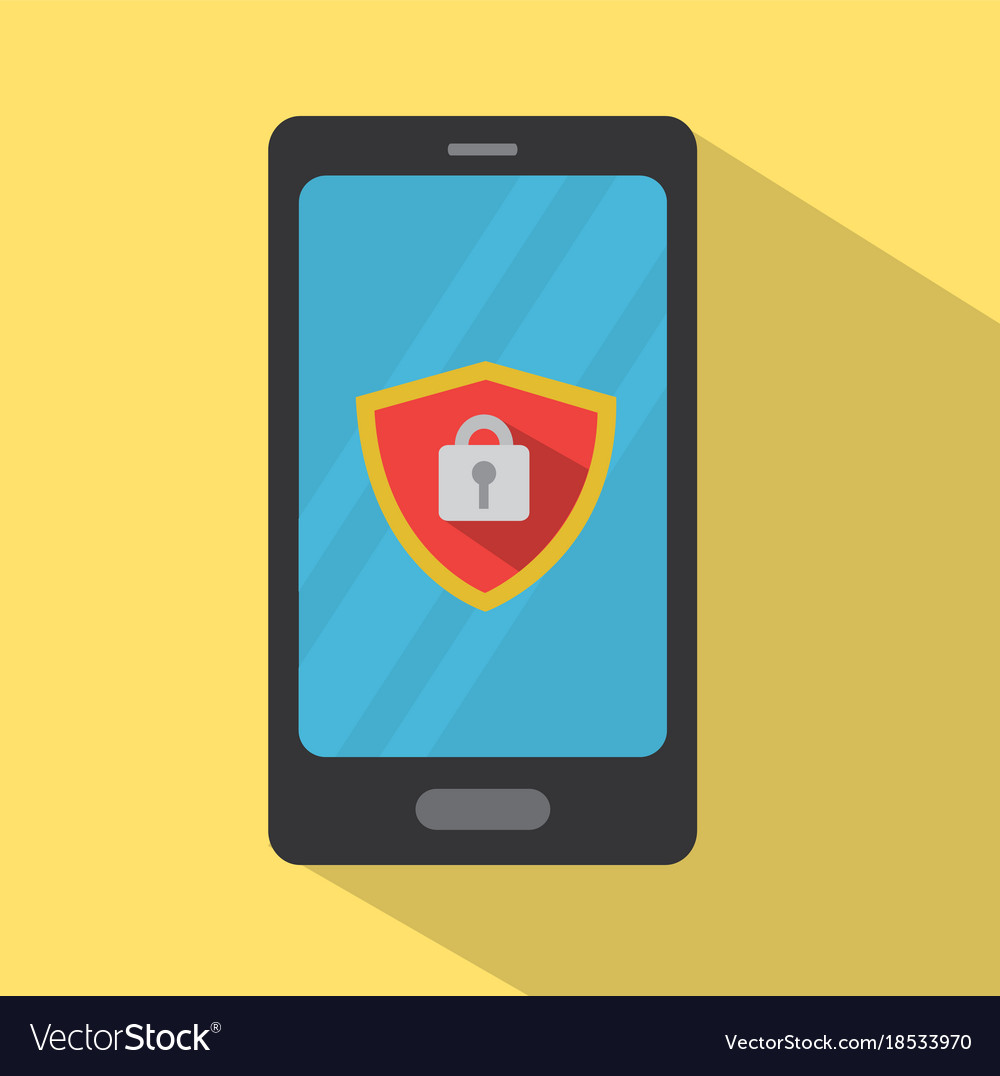 Mobile phone under protection