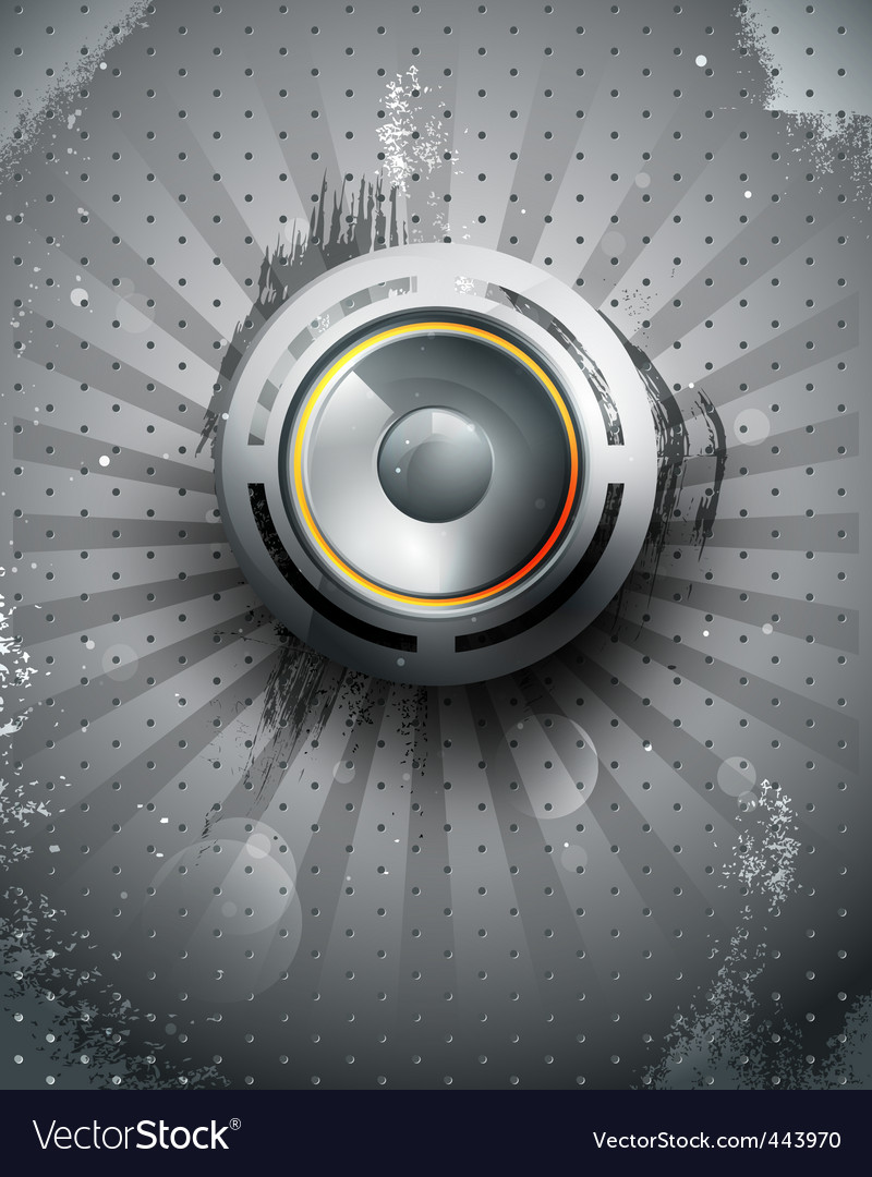 Vector musical speaker icon