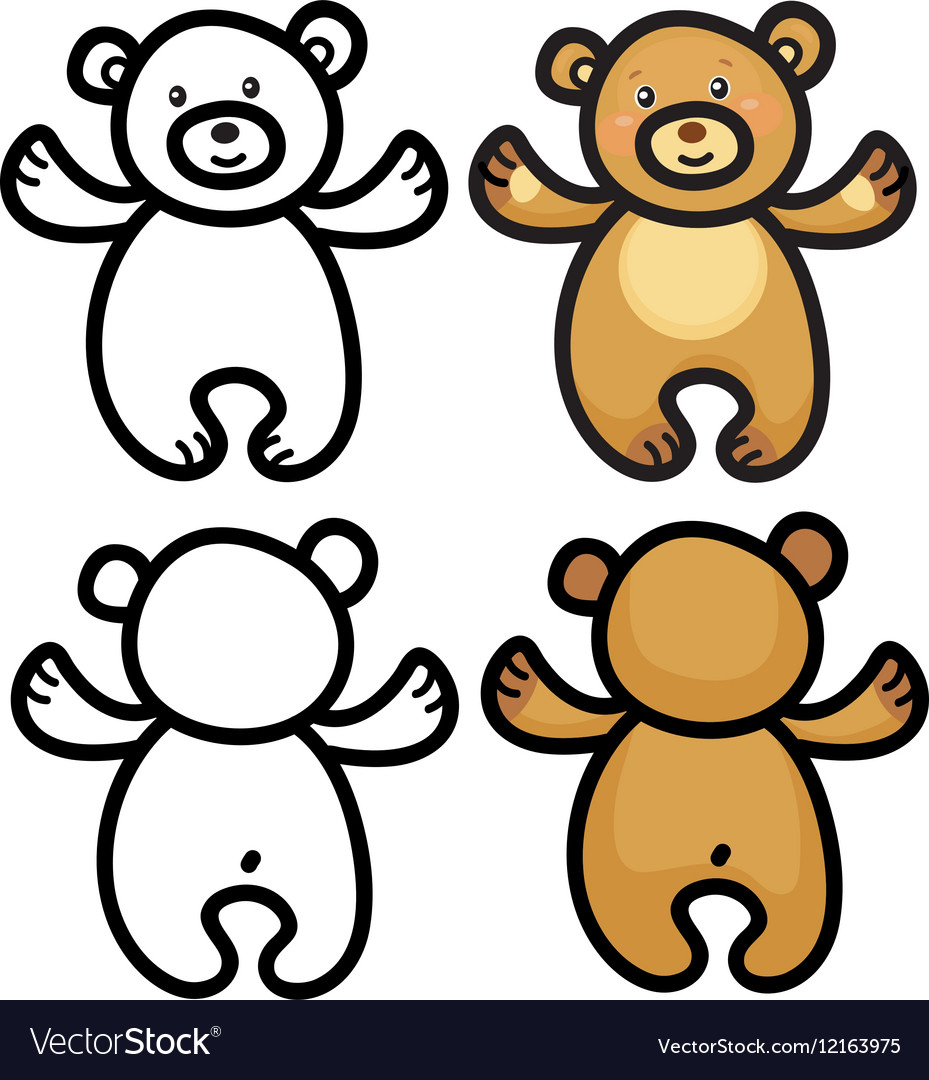 Bear cartoon vector image