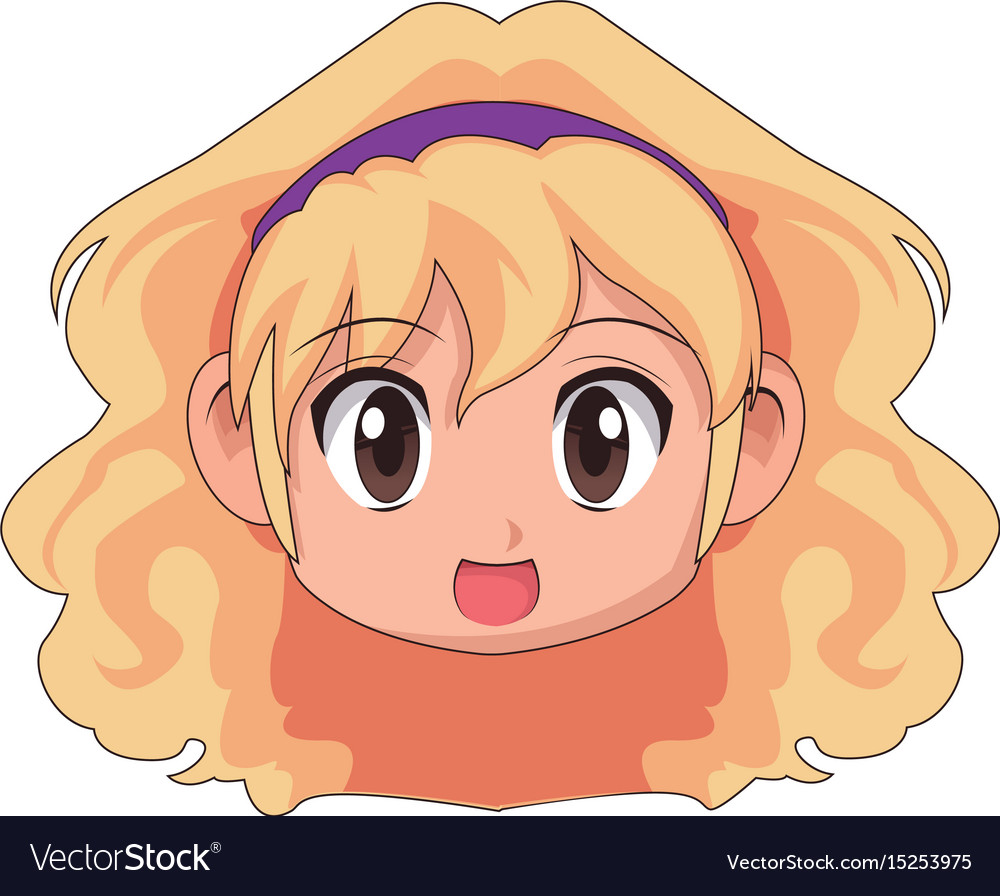 Cute cartoon anime little girl chibi character