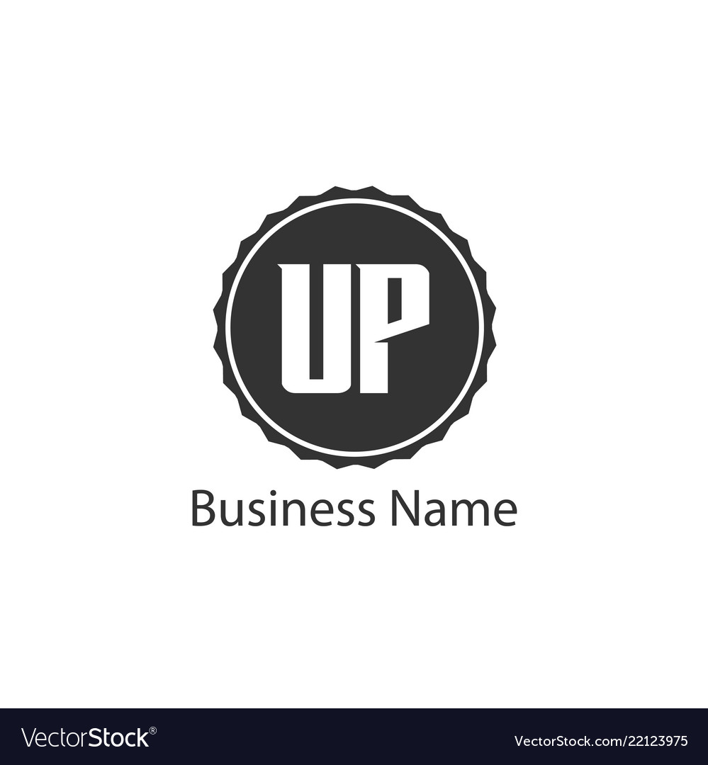 Initial letter up logo template design
