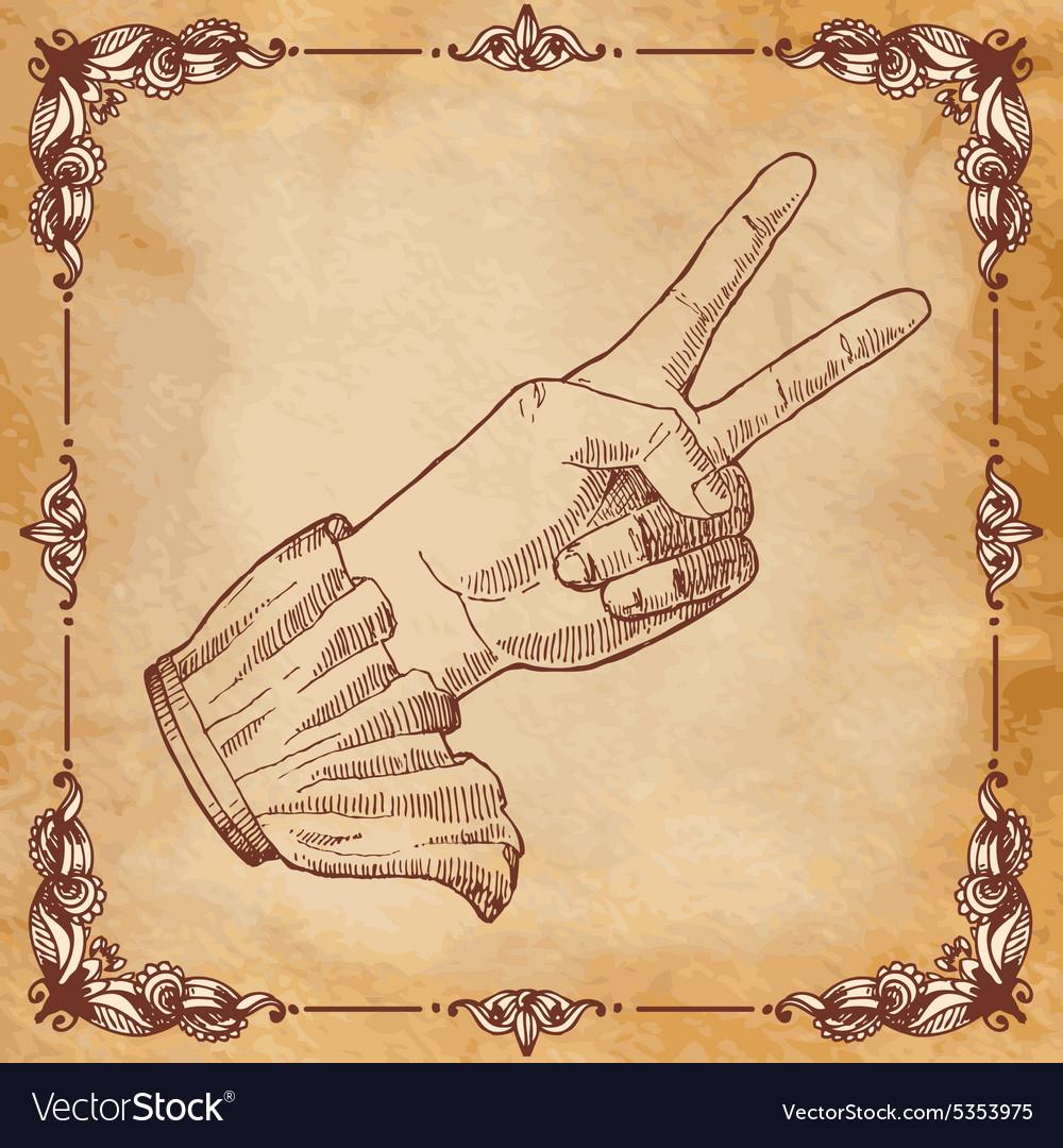Mans hand gesture