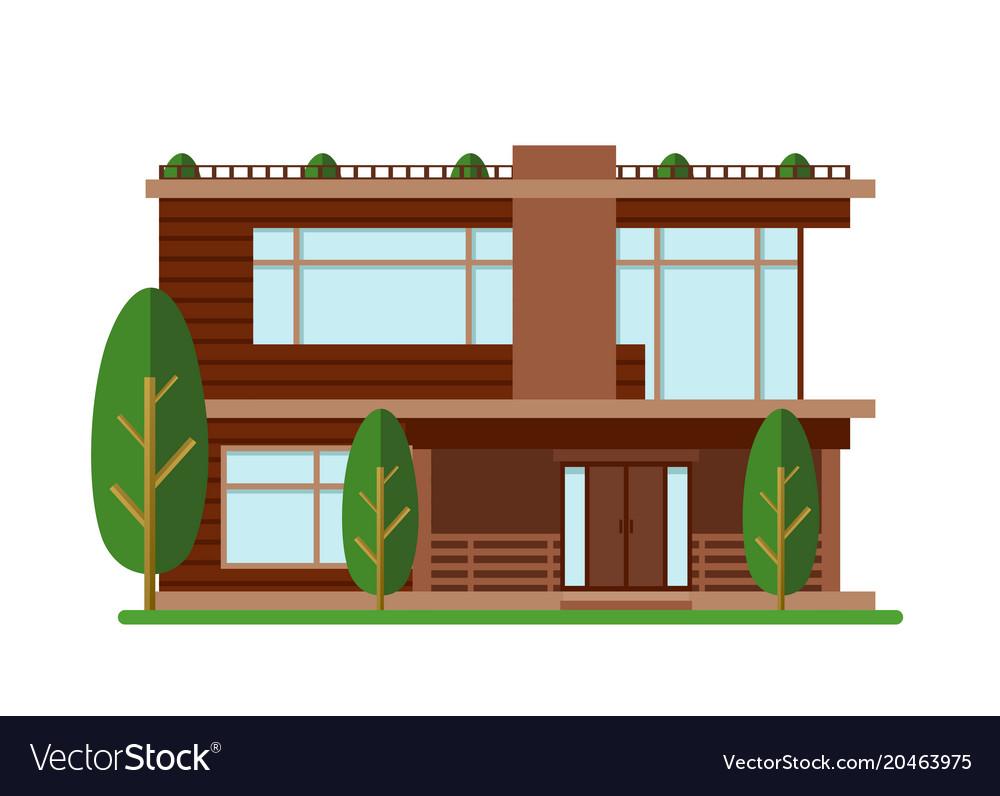 Modern house family home