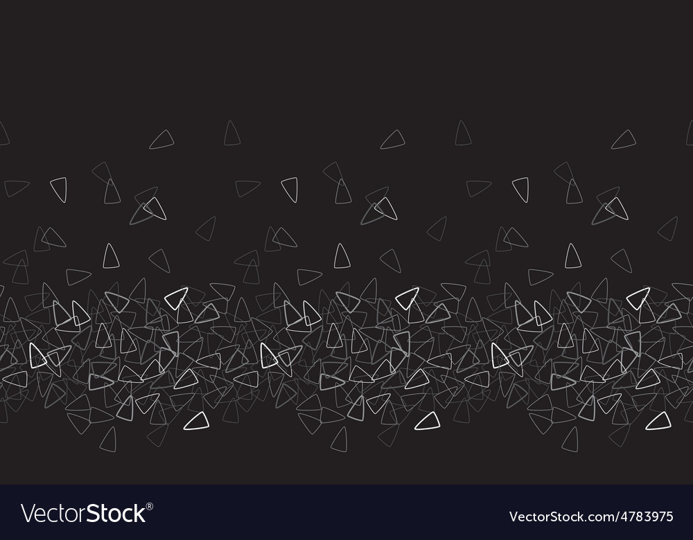 Seamless triangle pattern Black monochrome