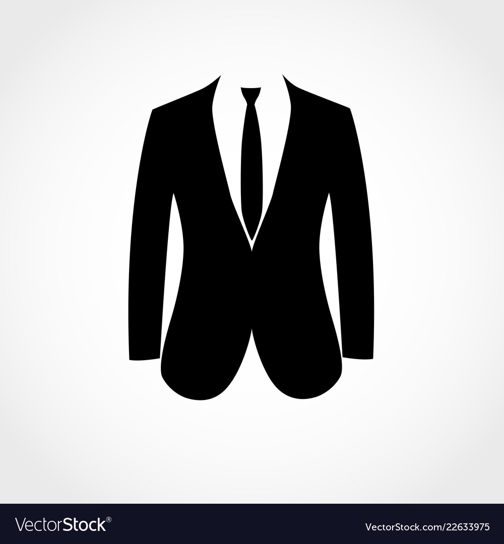 Suit icon isolated on white background