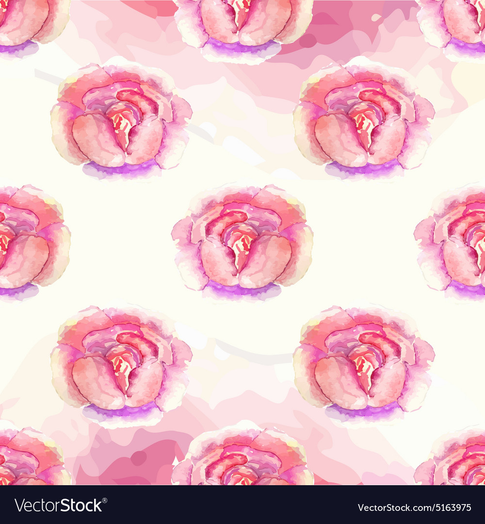 Watercolor floral pattern with roses