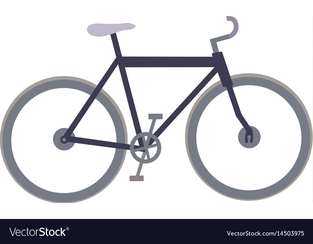 White background with sport bicycle vector image