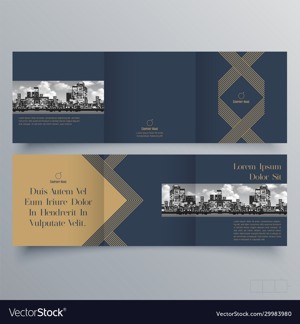 Brochure design template creative