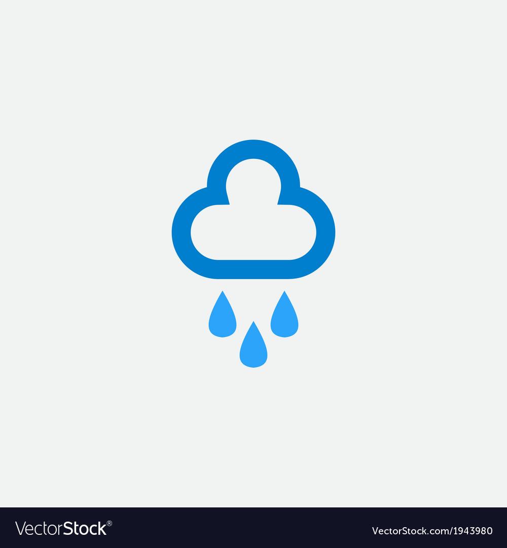 Cloud with rain drops icon