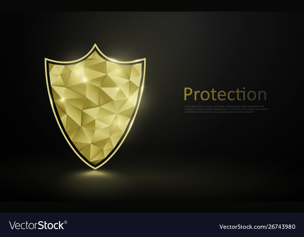 Gold luxury shield protection premium security