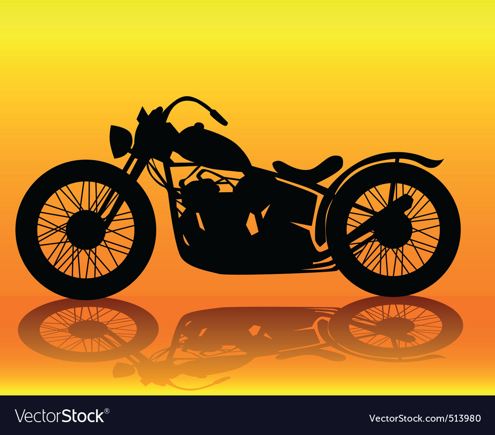 Old motorcycle vector image