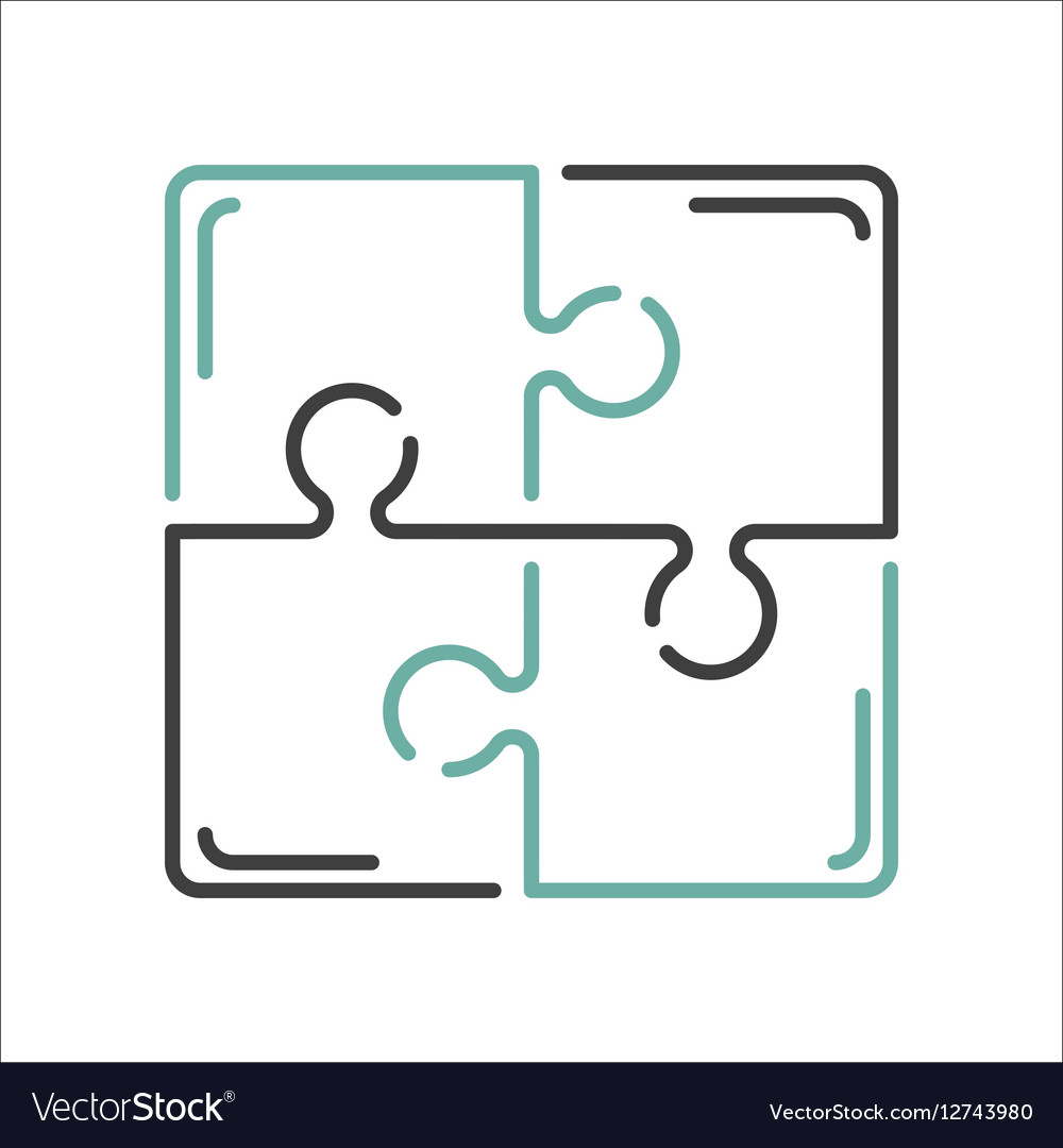 Puzzle blank template or cutting guidelines