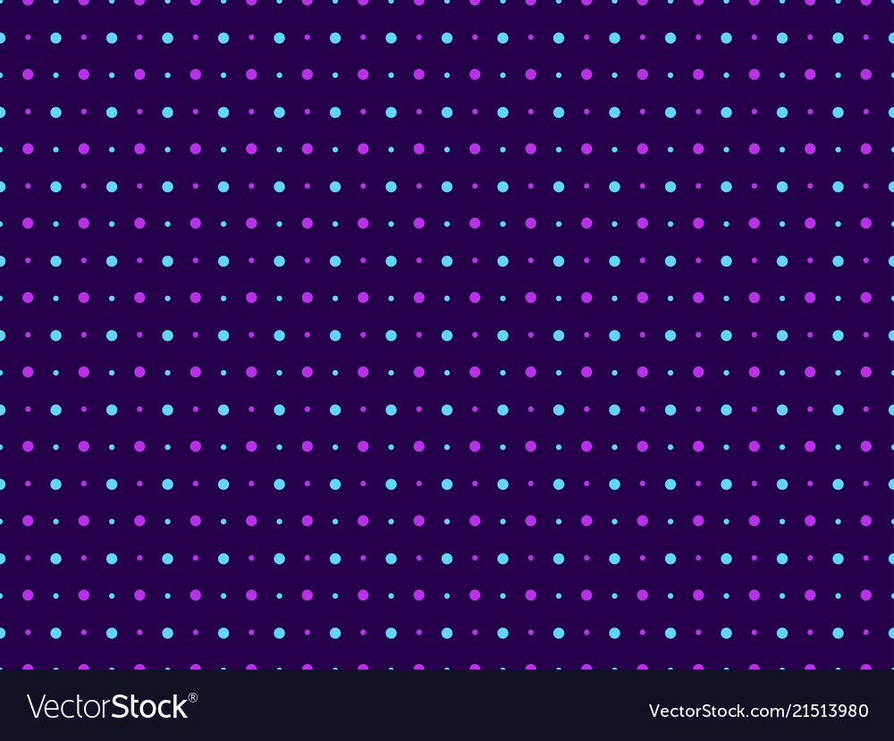 Seamless pattern polka dot violet color pop art