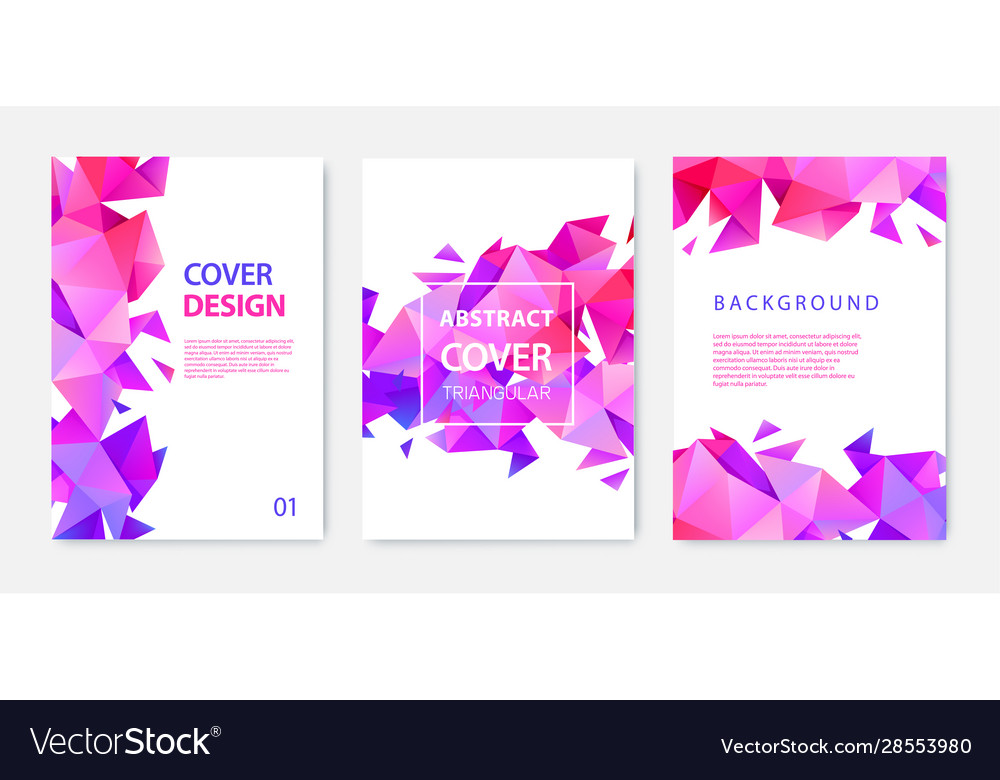 Set triangle polygonal abstract