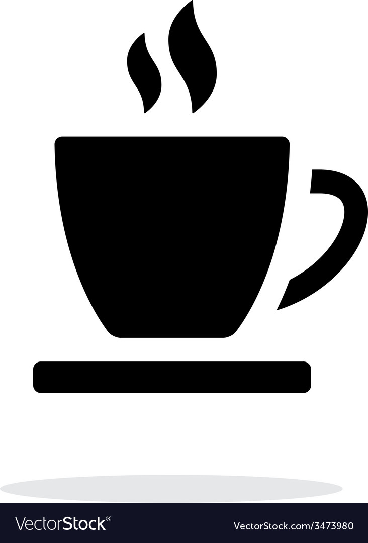 tea cup simple icon on white background royalty free vector vectorstock