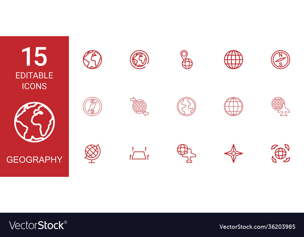 15 geography icons