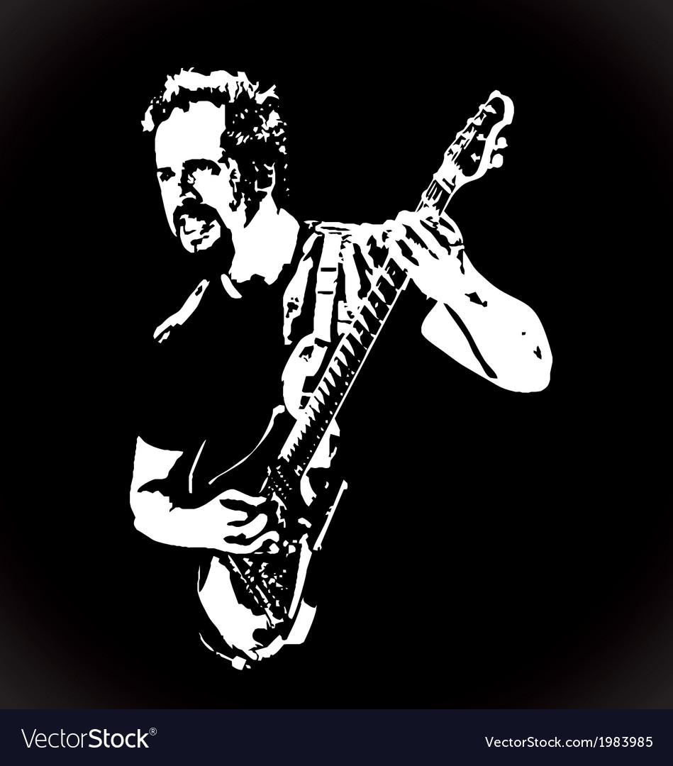 Guitarist Stencil Art vector image