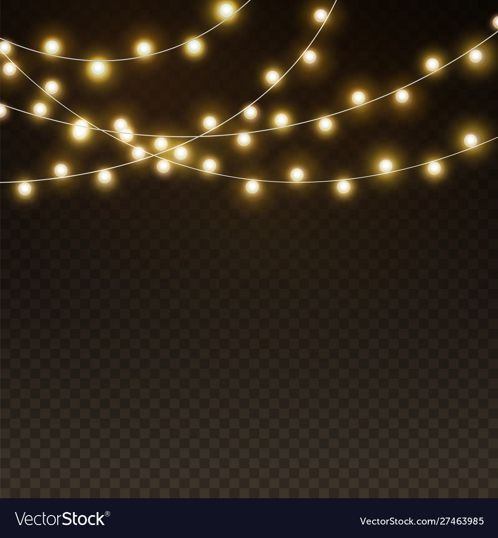 Light garlands background realistic christmas
