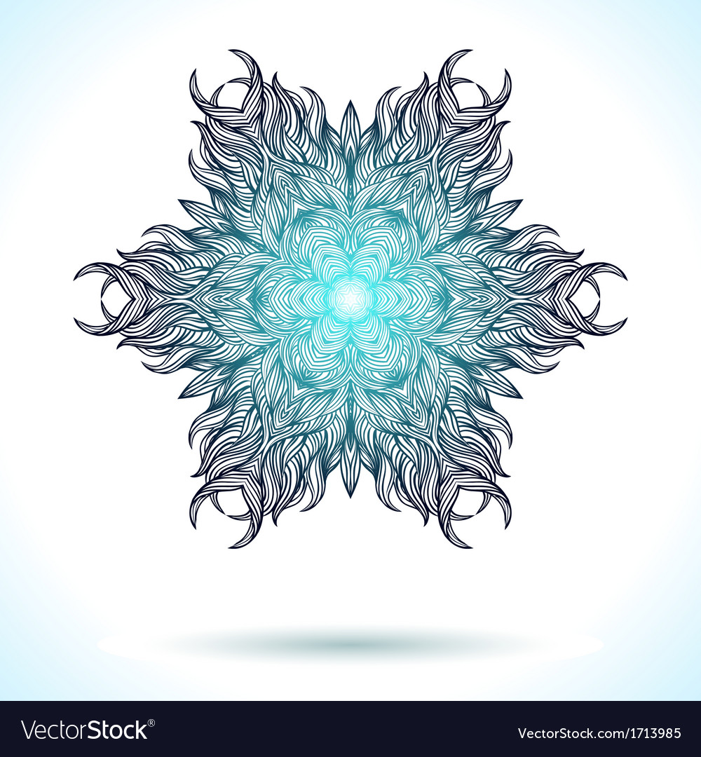 Modern mandala or snowflake design