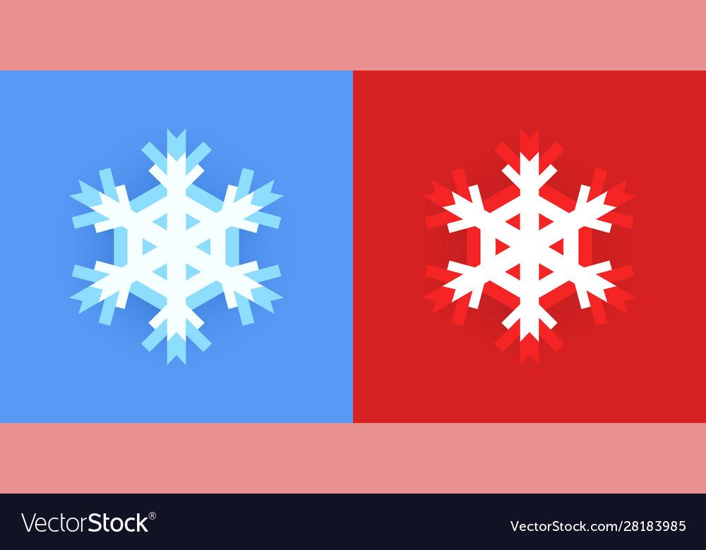 Set snowflake icon for christmas design on