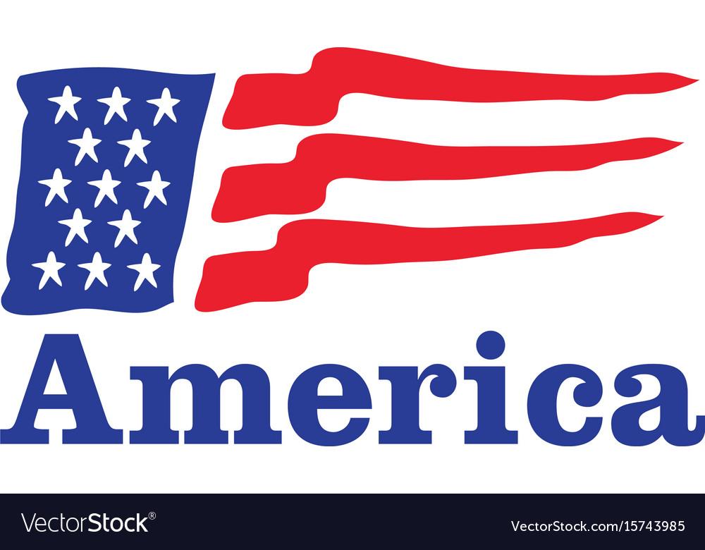 waving american flag logo design royalty free vector image rh vectorstock com american flag logo jacket uk american flag logo vector