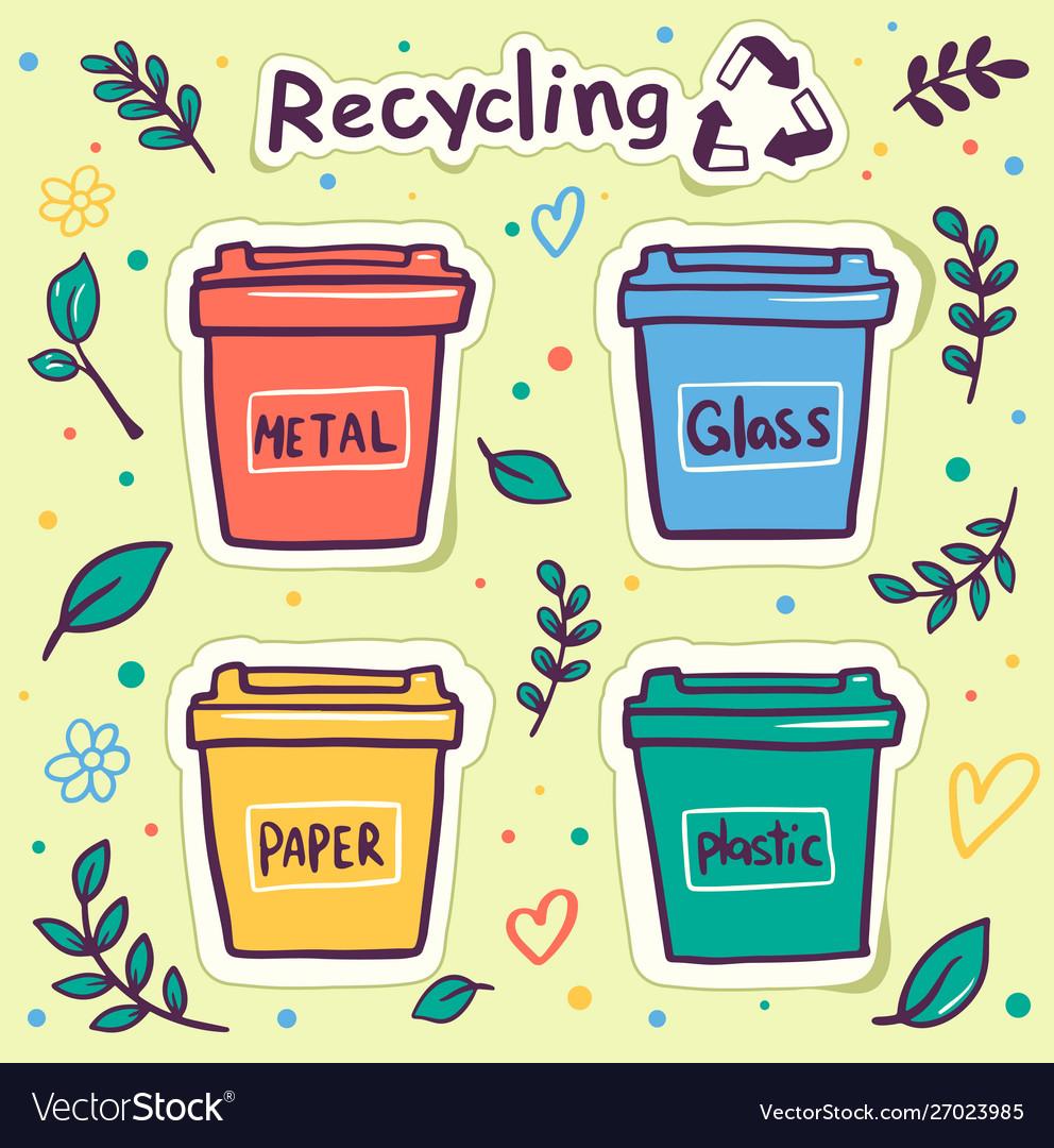 Zero waste flat round banner template