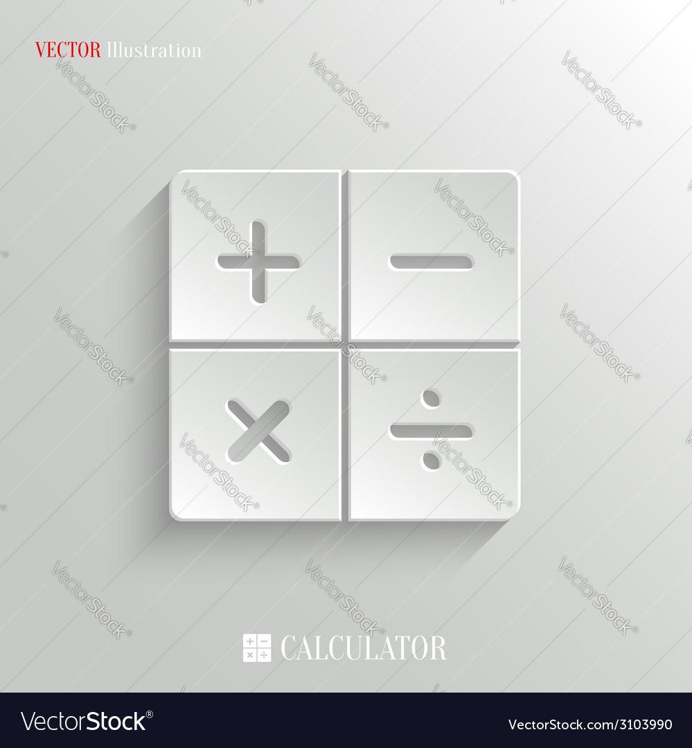 Calculator icon - white app button