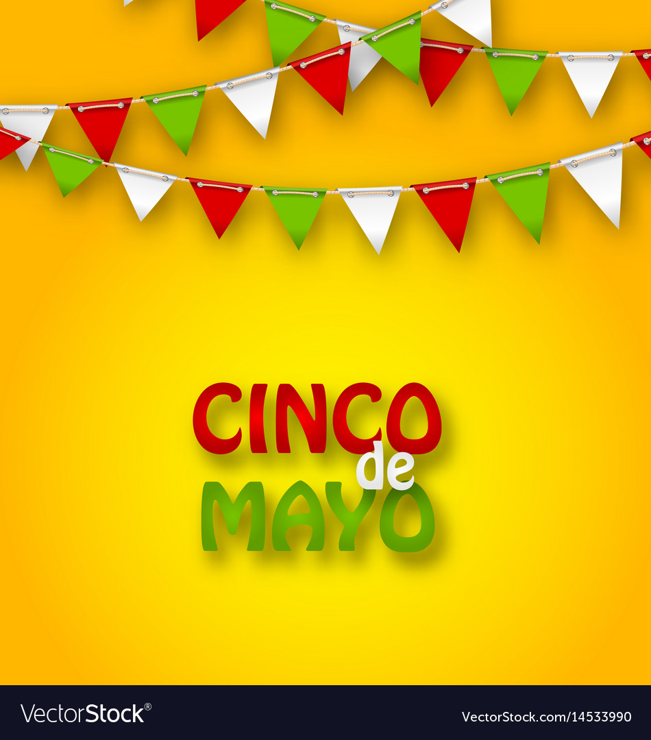 Cinco De Mayo Holiday Bunting Background Vector Image