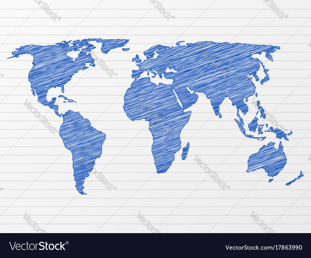 Drawing world map royalty free vector image vectorstock drawing world map vector image gumiabroncs Gallery