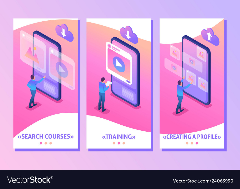 Isometric content creation for social networks