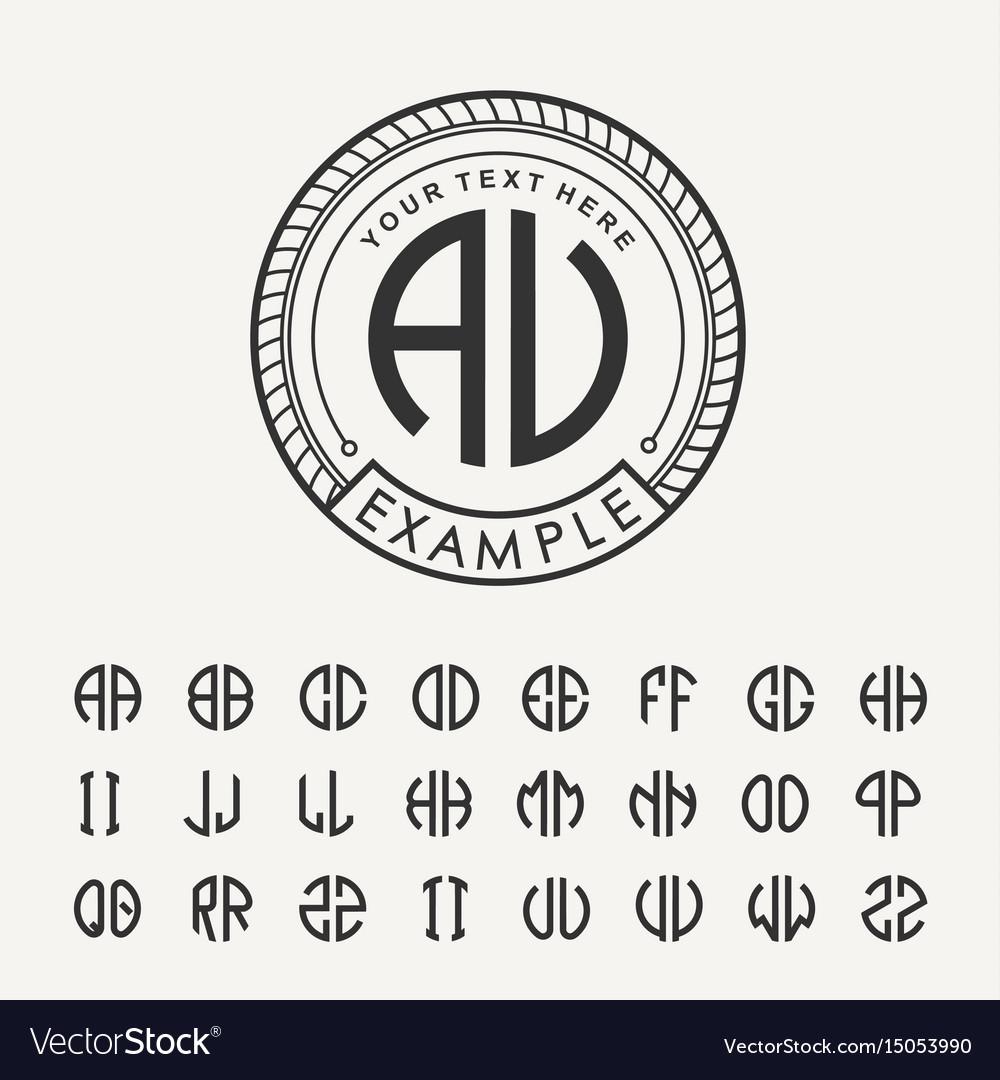 Modern emblem badge template luxury elegant