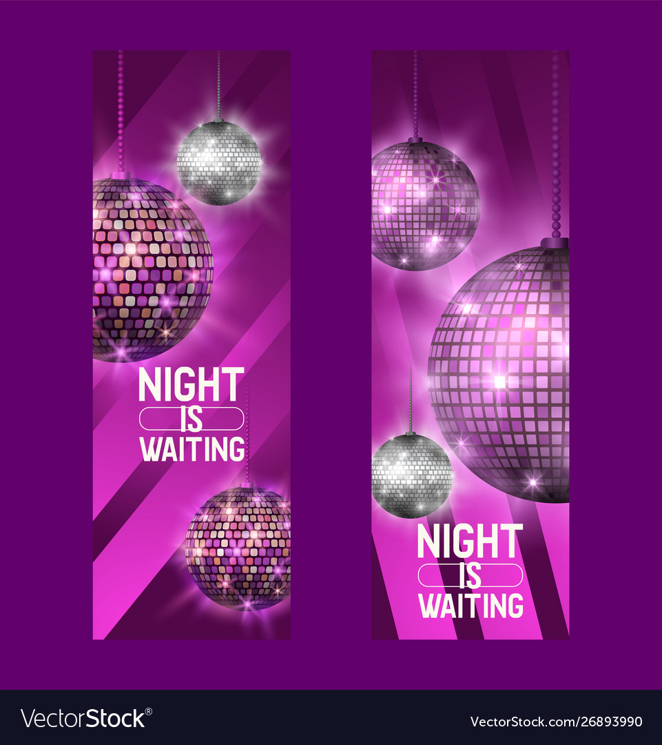 Night is waiting set banners