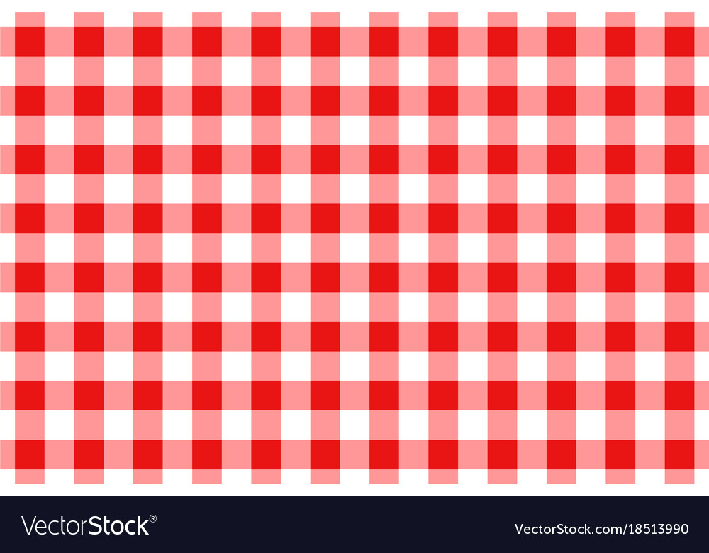 Red And White Gingham Tablecloth Seamless Pattern