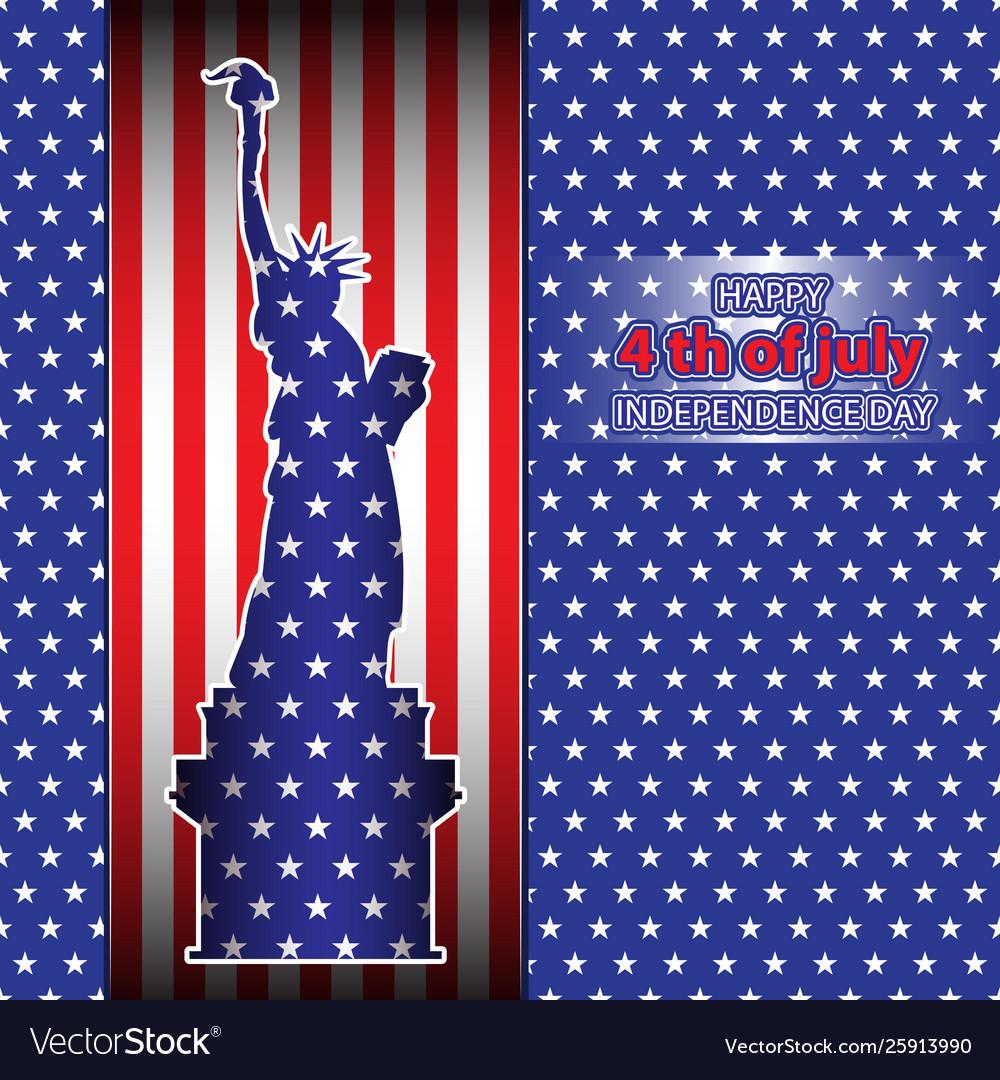 Silhouette statue liberty attributes