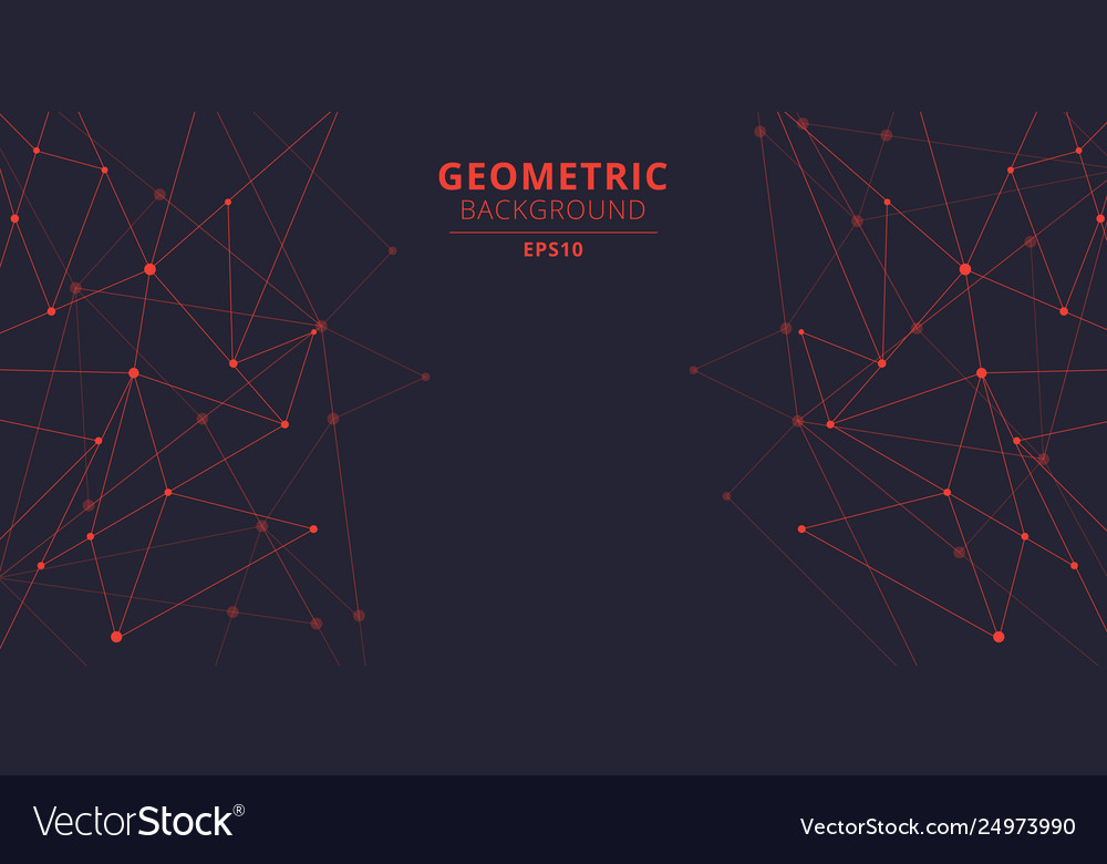 Technology abstract triangles shapes red color