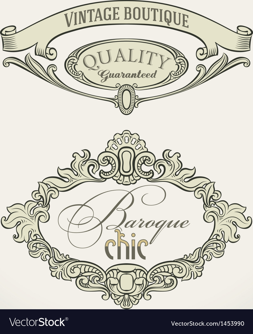 Victorian styled labels