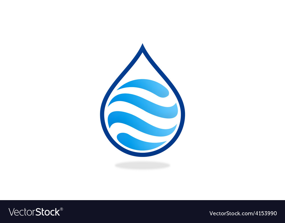 Water drop wave abstract logo
