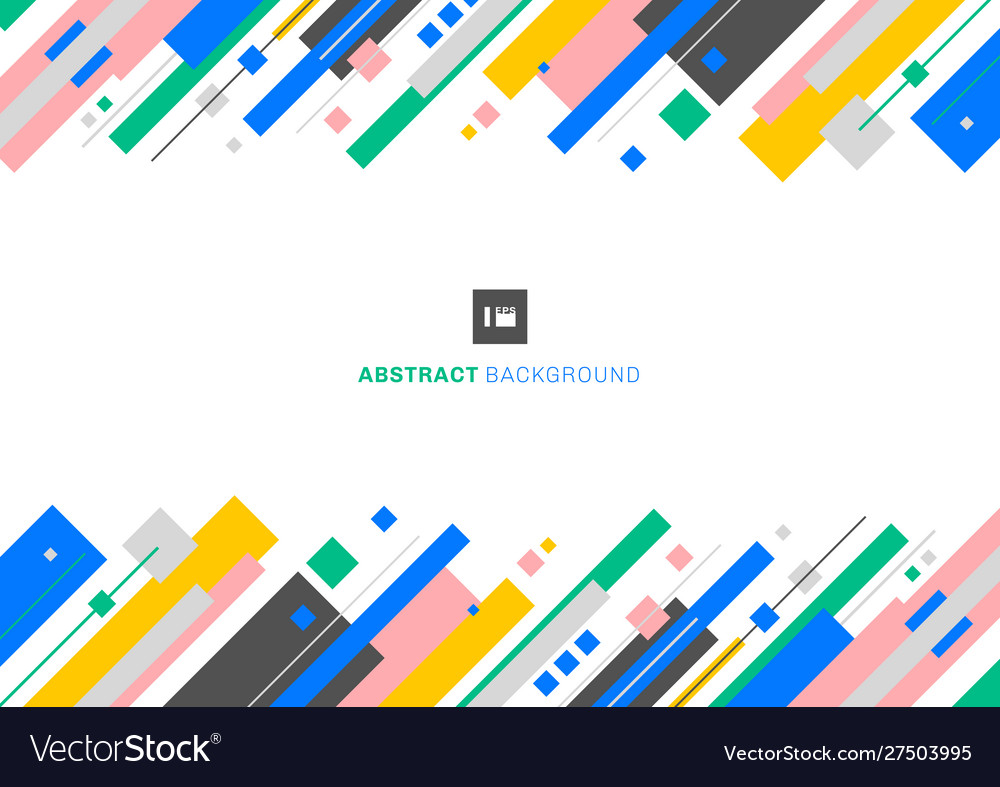 Abstract template design colorful geometric