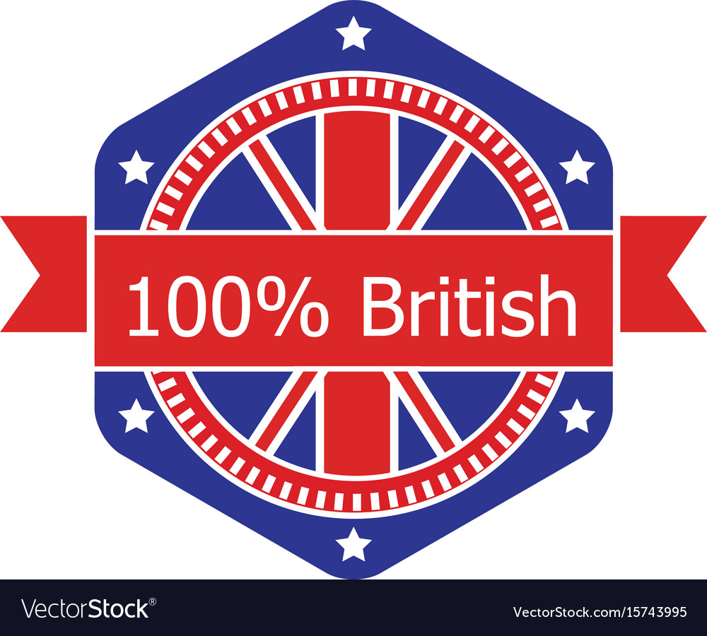 Britian flag badge