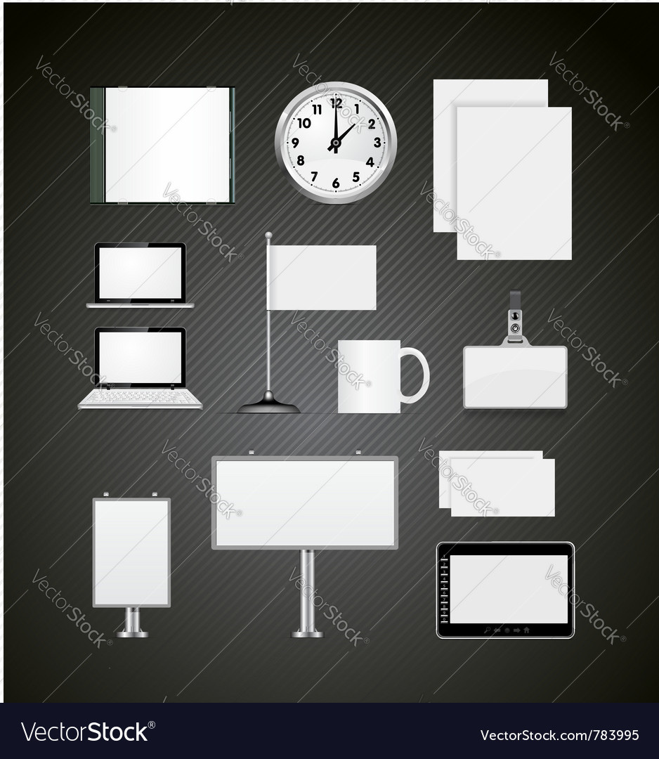 Corporate identity blank design templates