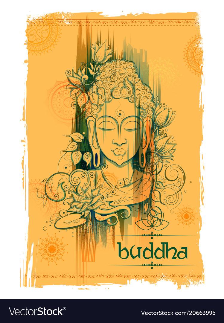 lord buddha in meditation for buddhist festival of