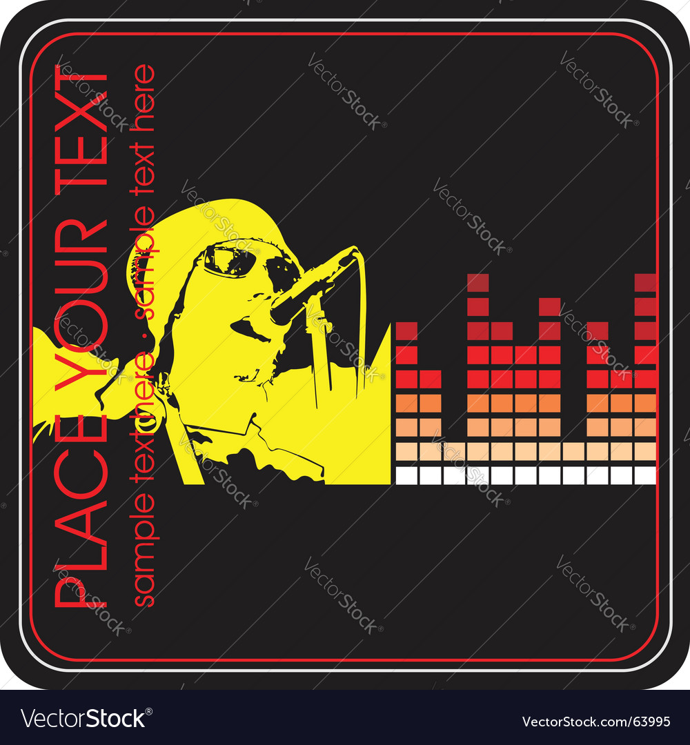 Musical poster elements vector image
