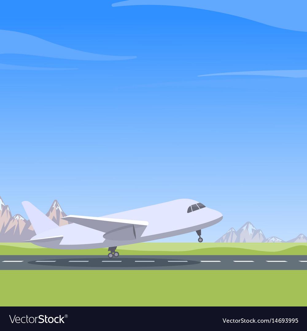 Самолет на взлете картинки для детей