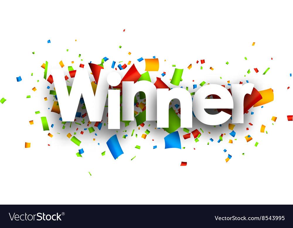 winner paper banner royalty free vector image vectorstock