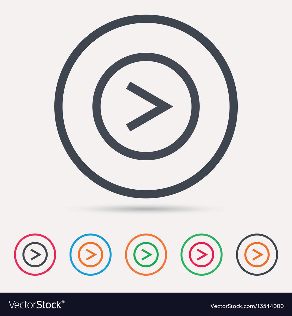 Arrow icon next navigation sign