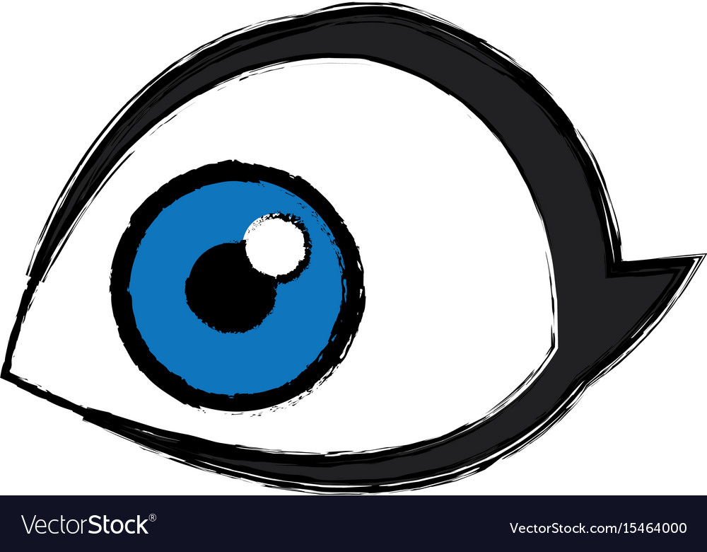 Eye Look Watch Vision Optical Icon Royalty Free Vector Image