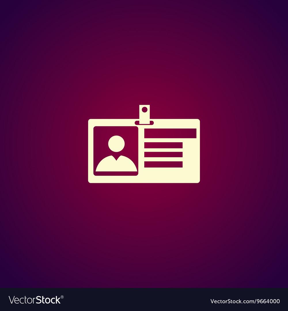 Identification card icon Flat design style