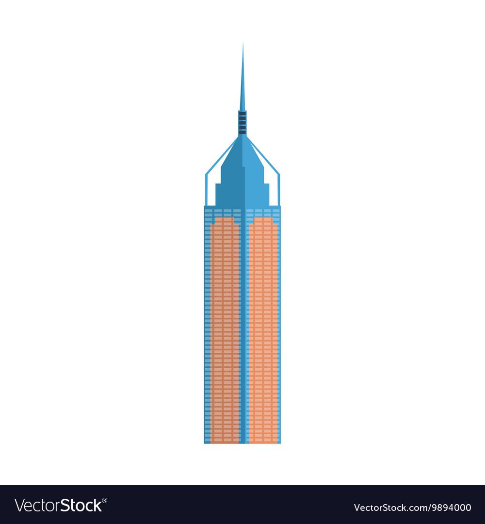 Modern Skscraper Hong Kong Building Simplified vector image
