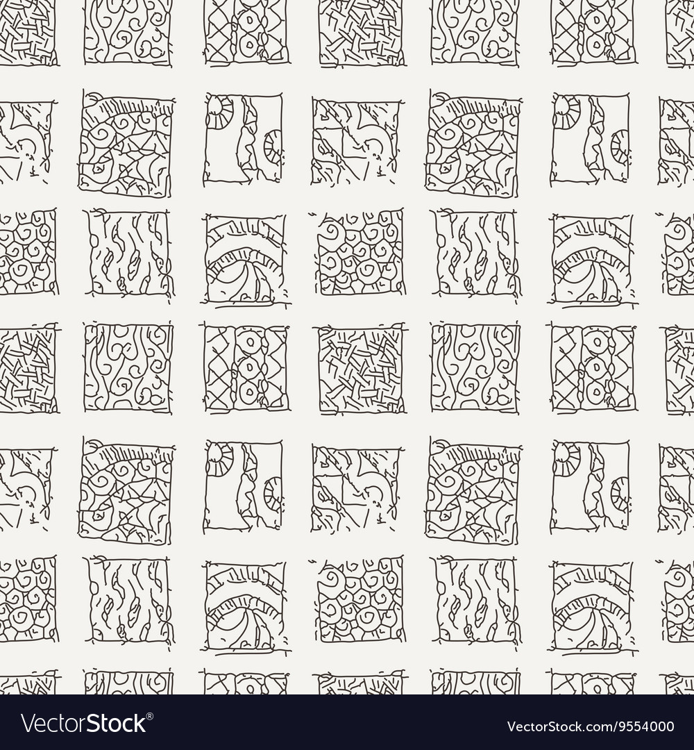 Patterned background in the style of Maya vector image