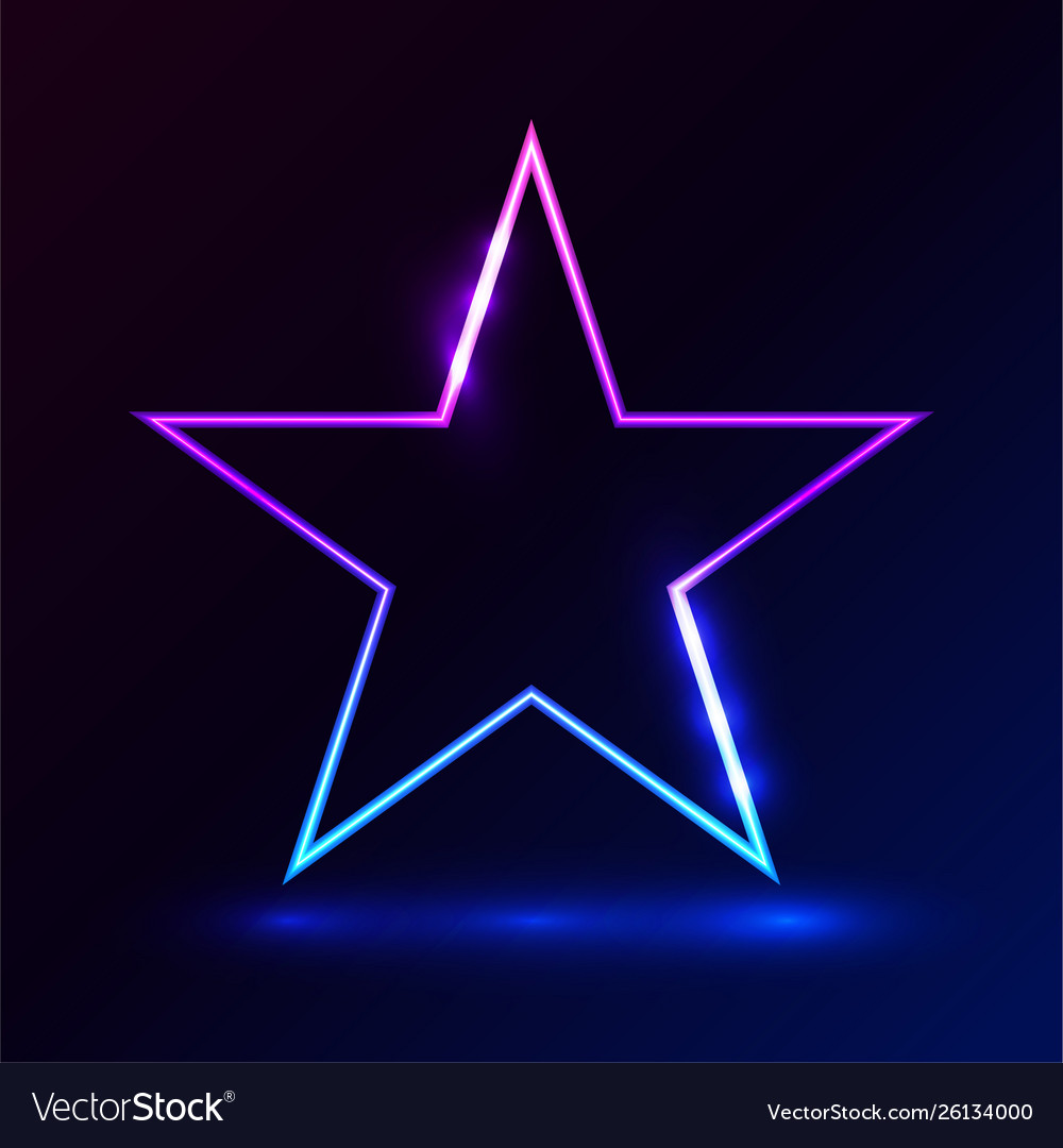 Star pink blue light on dark background
